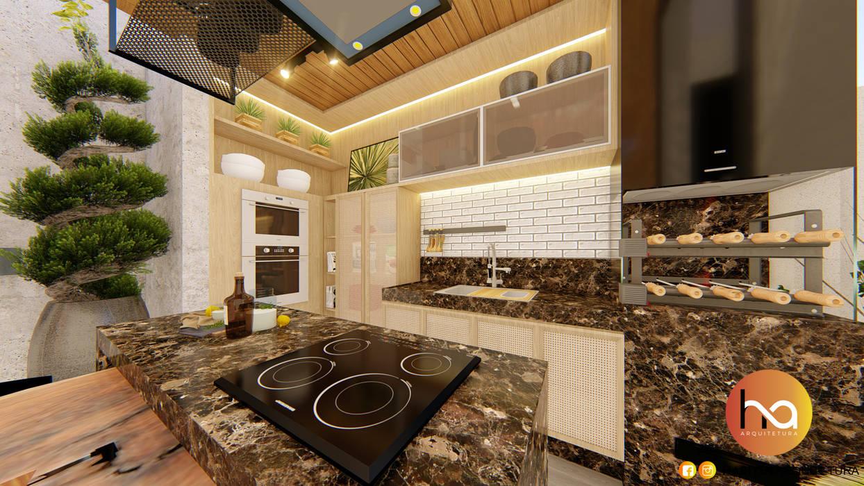 03 Habitus Arquitetura Varandas, alpendres e terraços modernos Madeira maciça Efeito de madeira