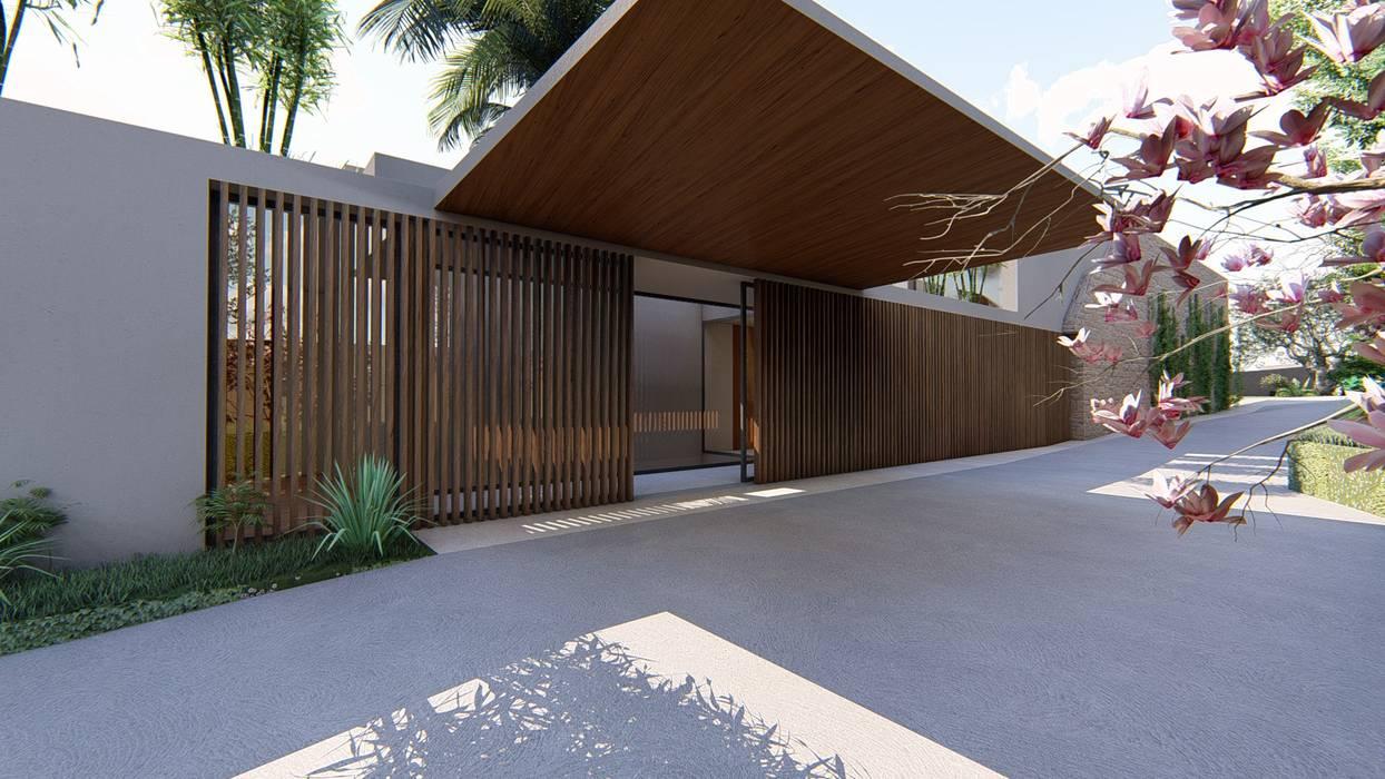 Entrada principal MJARC - Arquitetos Associados, lda Habitações multifamiliares Madeira