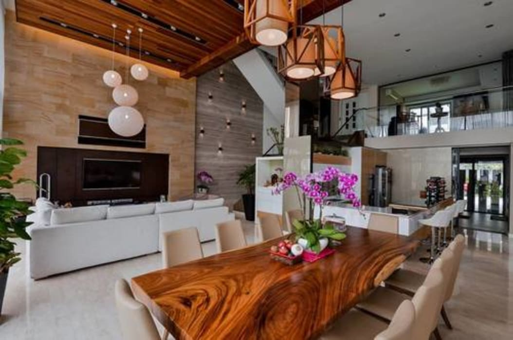 Residential Interior DMZ Consultancy Sdn Bhd Living room Wood Brown