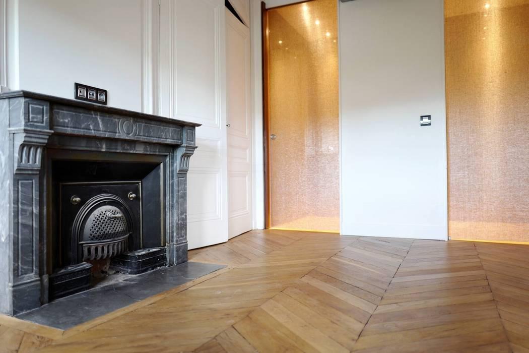 Rénovation appartement Haussmannien à Lyon Salle à manger classique par RS.D Agencements Classique