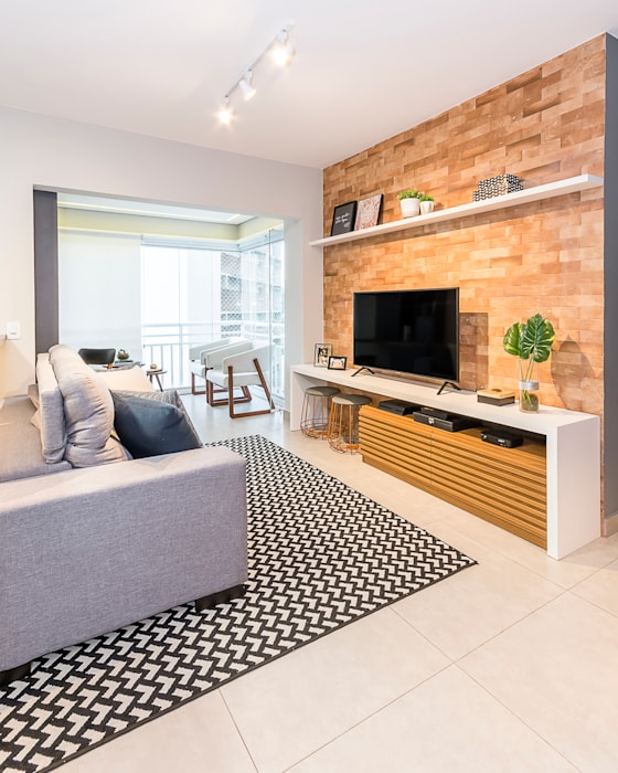 Salas de estilo moderno de Juliana Pires Interiores Moderno