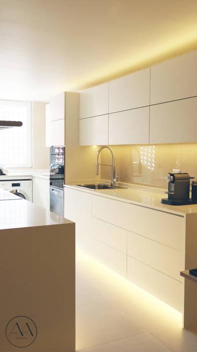 Remodelación Cocina San Damian Cocinas de estilo minimalista de Aravena Alruiz Minimalista