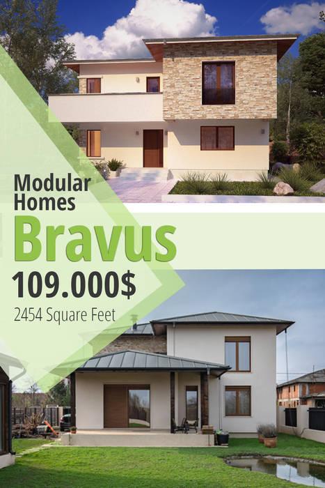 Case moderne di Modular Homes Moderno Cemento