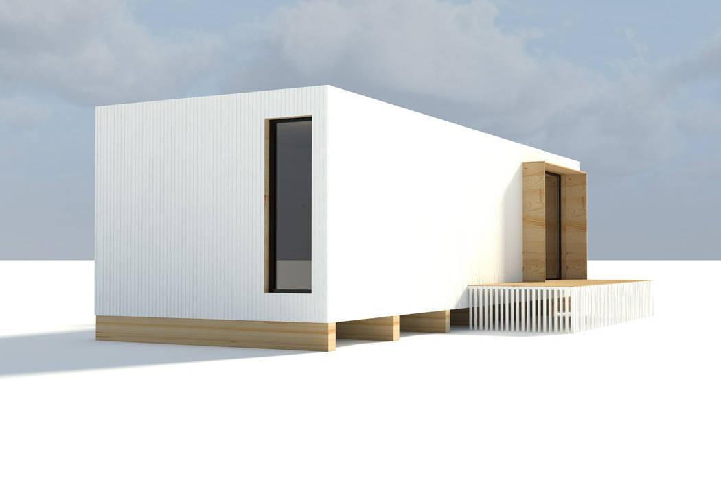 Casas modulares de Martín González Arquitecto Minimalista