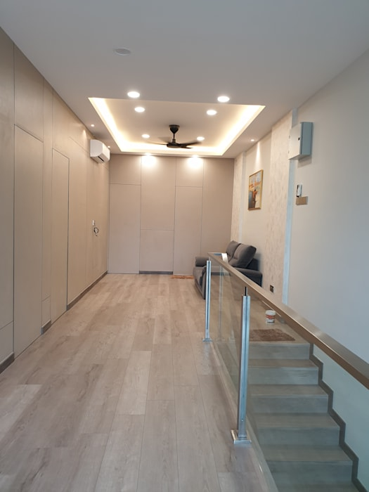 Rebuild intermediate single story terrace to double story. by Dterri Interior Design Asian