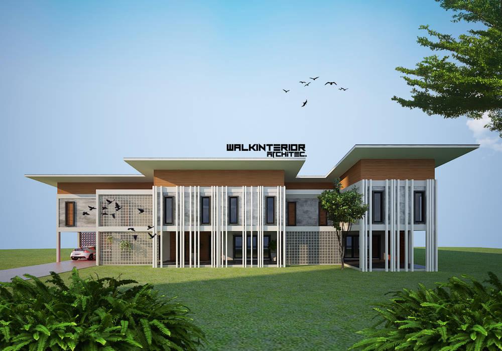 Home 2020 walkinterior บ้านสำหรับครอบครัว คอนกรีต White
