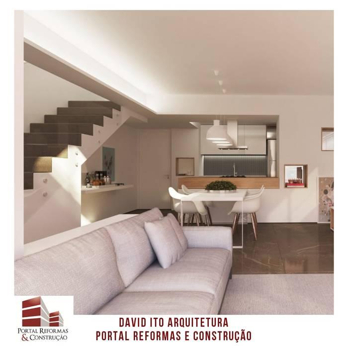 PROJETO DA SALA DE ESTAR/SUÍTE Salas de estar minimalistas por Portal Reformas & Construção Minimalista