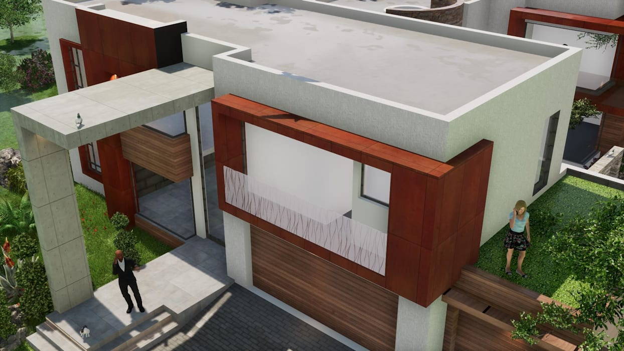 House Babuseng Modern houses by jonroy design studio Modern Concrete