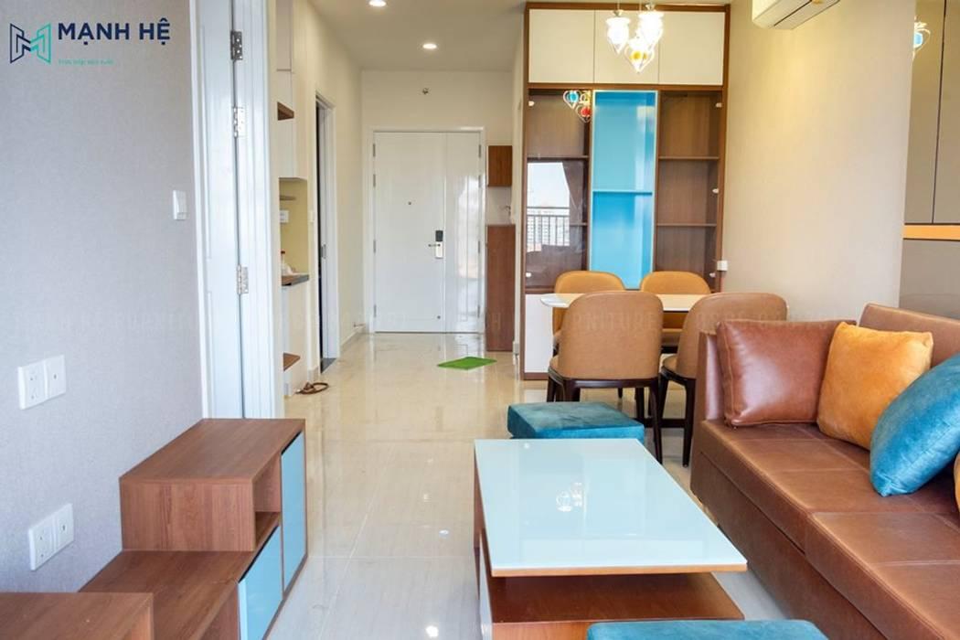 Tạo sự xuyên suốt không gian trong thi công hoàn thiện nội thất chung cư bởi Công ty TNHH Nội Thất Mạnh Hệ Hiện đại