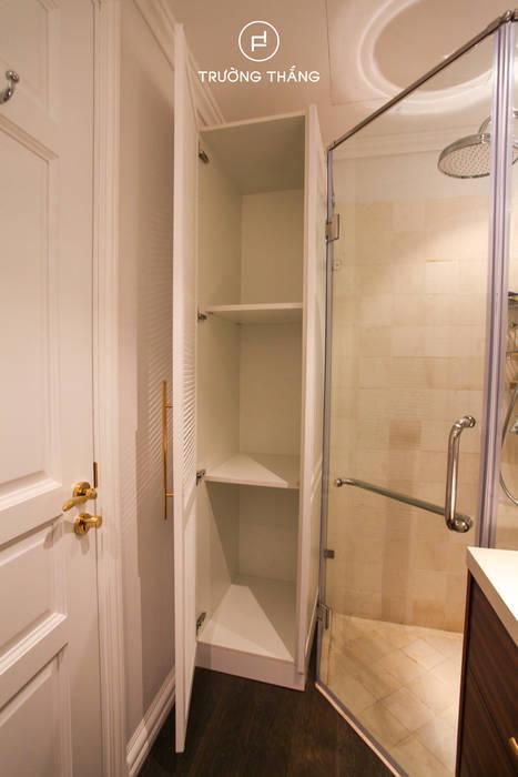 Kệ tủ đựng đồ phòng tắm CÔNG TY TNHH TRƯỜNG THẮNG Phòng tắm phong cách kinh điển MDF White
