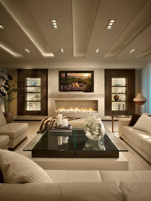 التصميم الداخلى لغرف ومجالس عربية حديثة ArchiSton غرفة المعيشة