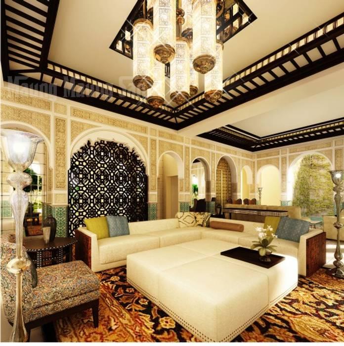 التصميم الداخلى لغرف ومجالس عربية حديثة من ArchiSton أسيوي