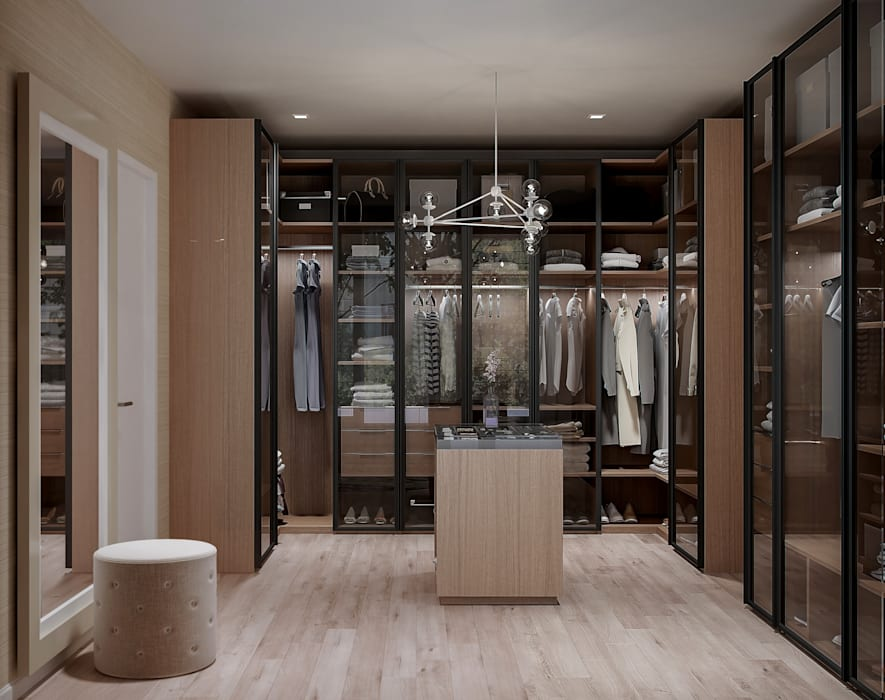 Dressing Room De Panache Modern dressing room Glass Beige