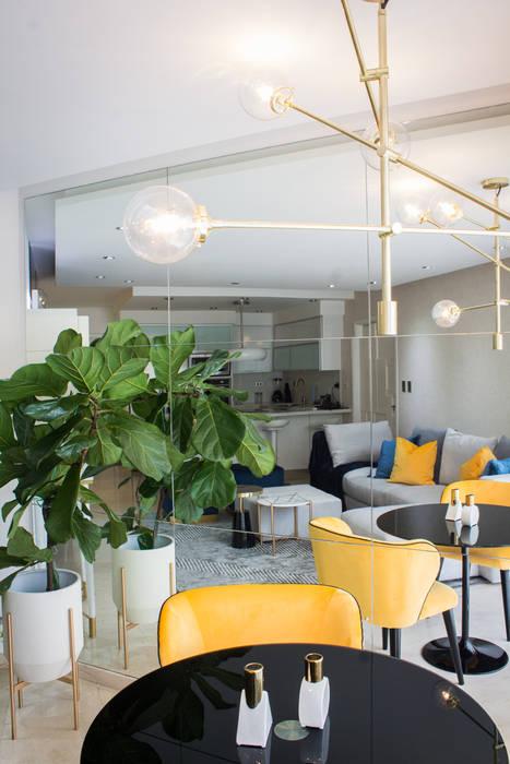 Proyecto PRC Caracas Arq Renny Molina Salas de estilo moderno Amarillo