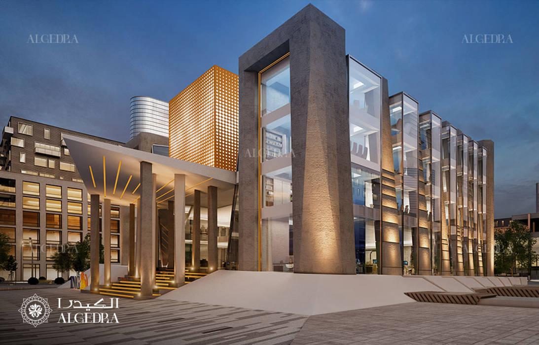 Bank building architecture design by Algedra Interior Design Modern
