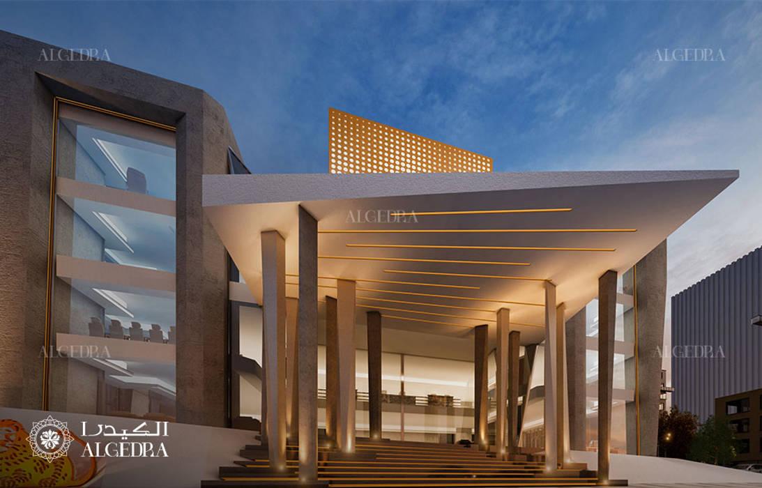 Bank building entrance design by Algedra Interior Design Modern