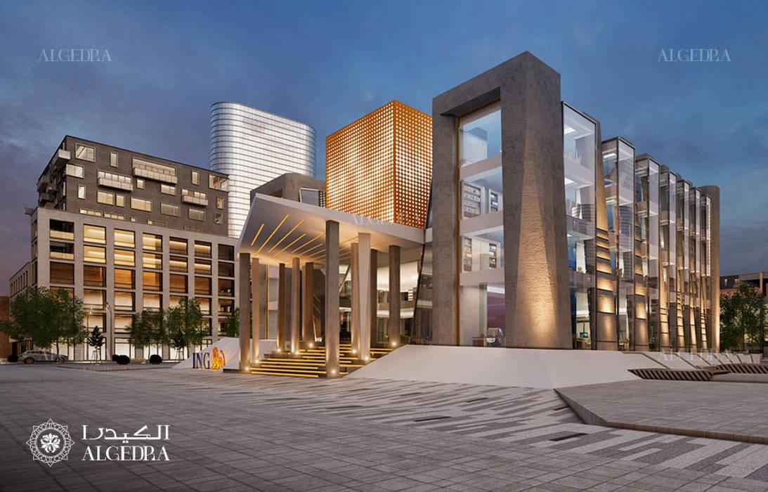 Bank building facade design by Algedra Interior Design Modern