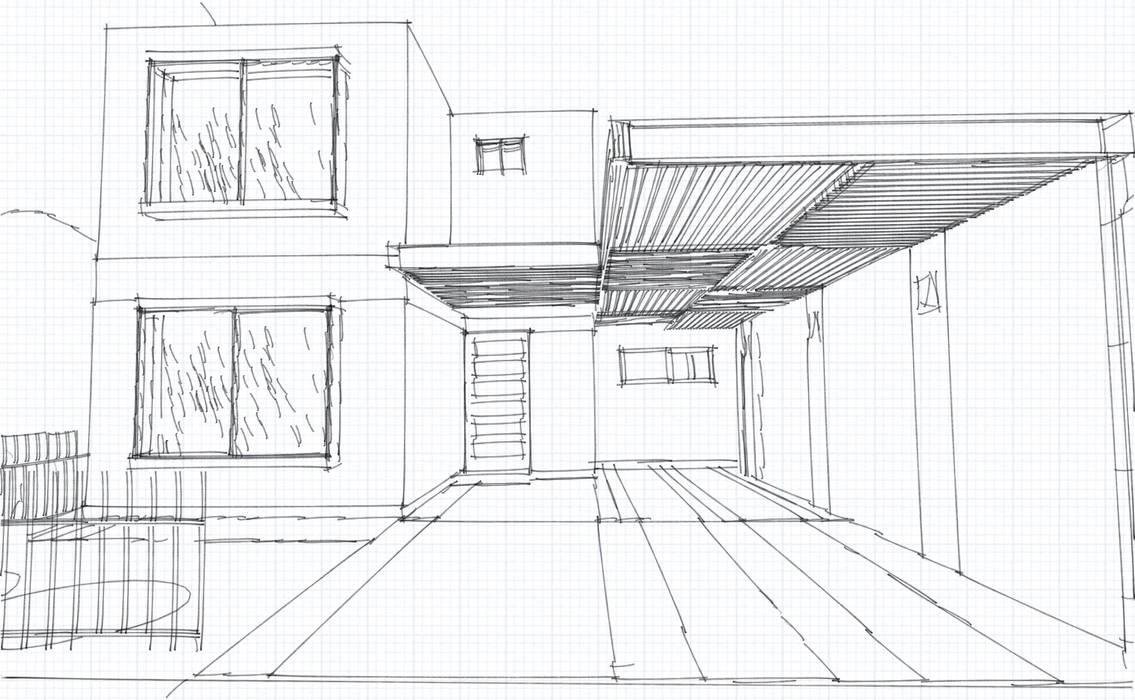 Remodelación acceso Casa Casas estilo moderno: ideas, arquitectura e imágenes de Espacio diseño y construcción Spa Moderno