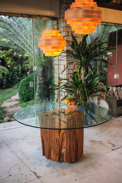 BASE DE MESA TRONCO Camacã Design em Madeira Sala de jantarMesas Madeira