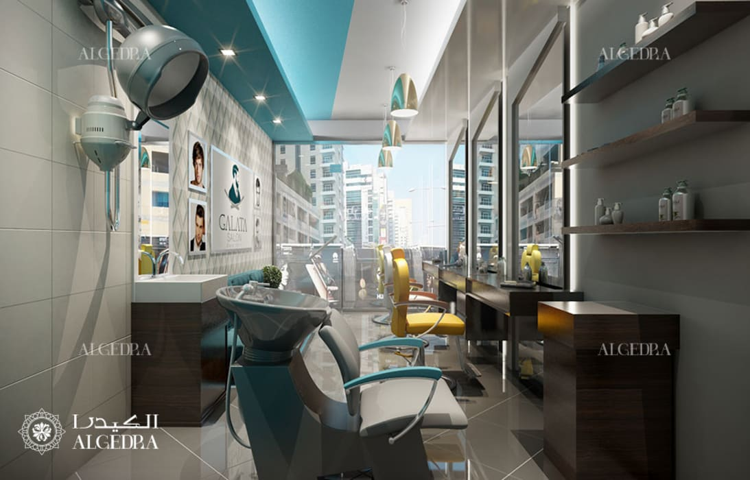 Gents Salon Interior Design In Dubai By Algedra Interior Design Modern Homify