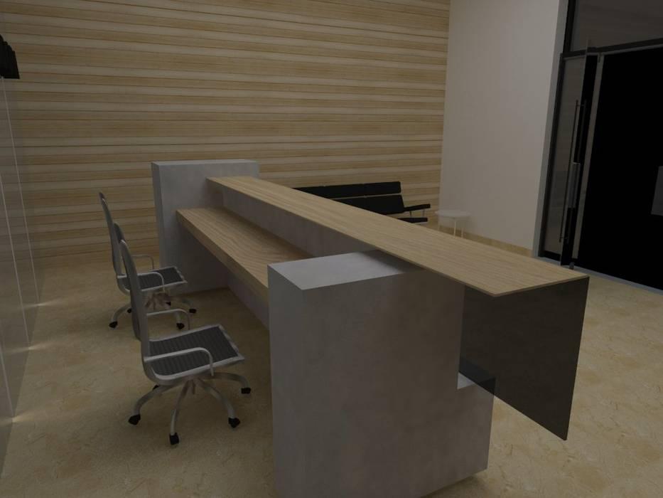 Mueble de Recepción de MAS ARQUITECTURA1 - Arq. Marynes Salas Moderno