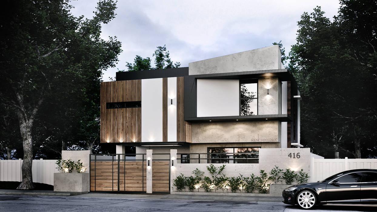 416 Residence Renovation by Kenchiku 2600 Architectural Design Services Modern Concrete