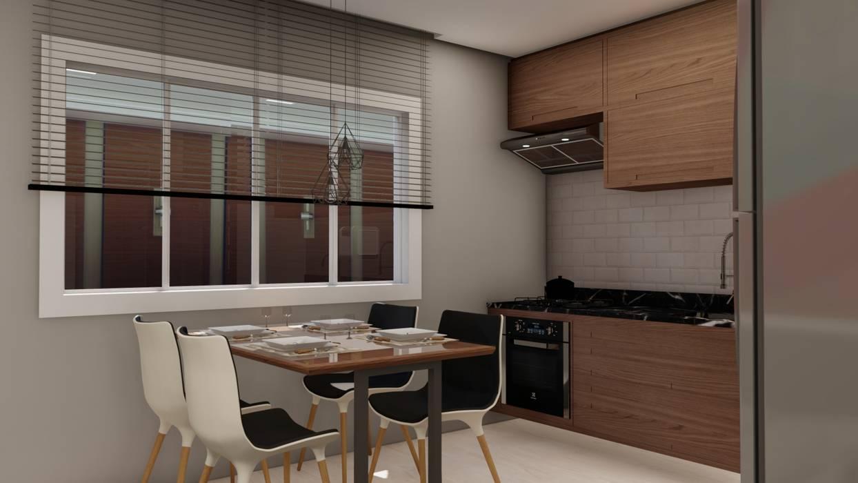 PROJETO APARTAMENTOS - APTO 02 Salas de jantar modernas por MILWARD ARQUITETURA Moderno