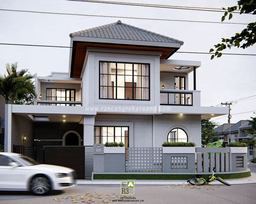 GOES HOUSE - Bapak Bagus Nugroho - Yogyakarta Oleh Rancang Reka Ruang Mediteran Kaca