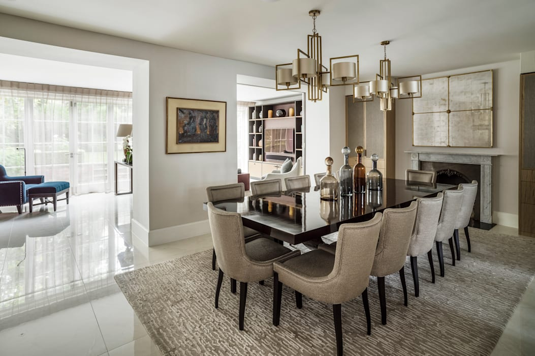 Carlton Hill, Open Plan Dining Room Classic style dining room by Roselind Wilson Design Classic