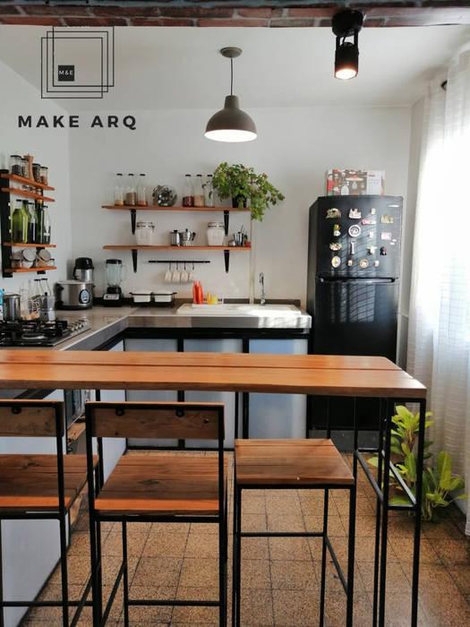 Cocina Estilo Industrial de Make ARQ Industrial Hierro/Acero