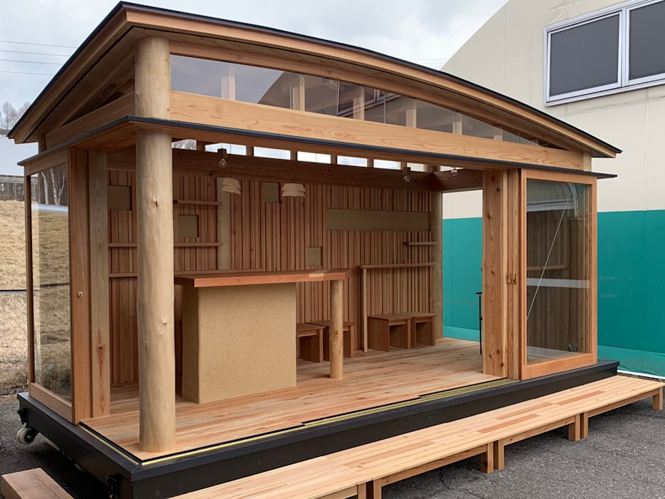 遠野未来建築事務所 / Tono Mirai architects Prefabricated home Wood Wood effect