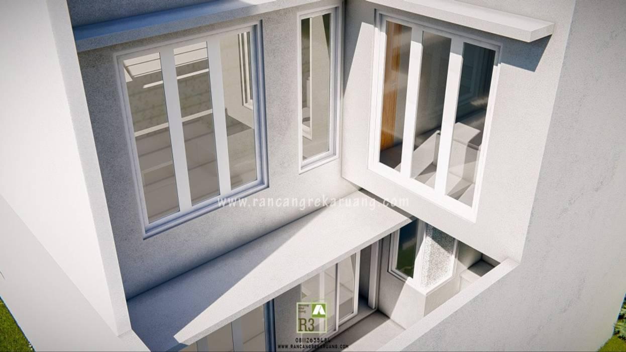 Studio Bunga - Bapak Andang - Yogyakarta Rancang Reka Ruang Pintu & Jendela Gaya Industrial Aluminium/Seng White