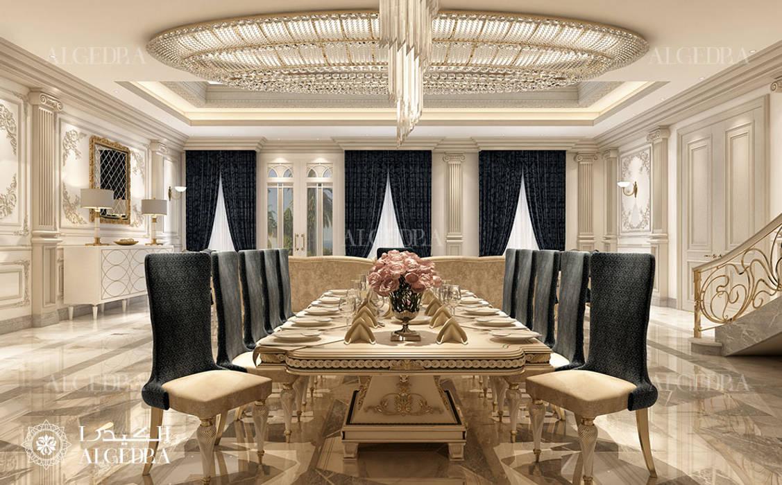 Elegant dining room in luxury villa Classic style dining room by Algedra Interior Design Classic