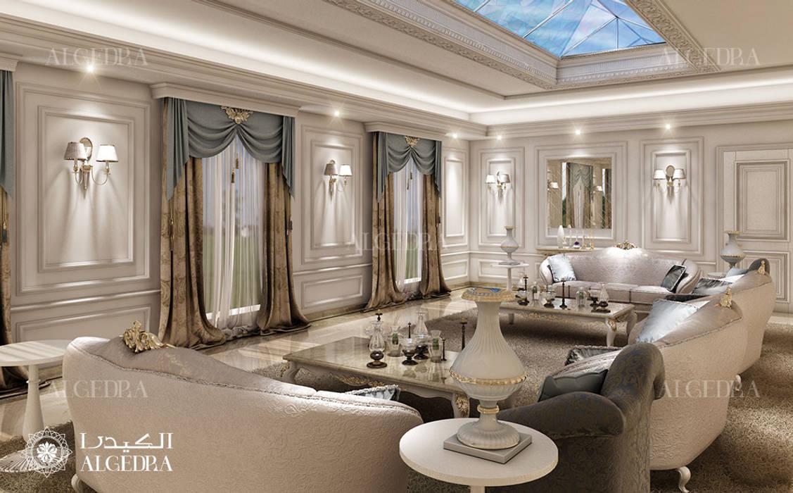 Luxury villa majlis design in Abu Dhabi by Algedra Interior Design Classic