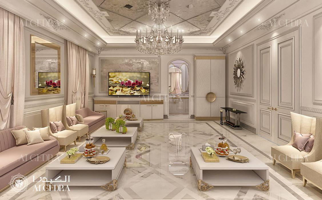 Ladies majlis design in Abu Dhabi by Algedra Interior Design Classic