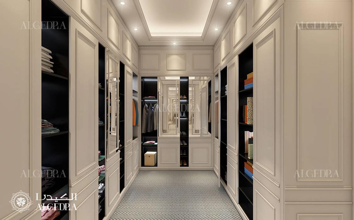 Bedroom closet design in Abu Dhabi Classic style dressing room by Algedra Interior Design Classic