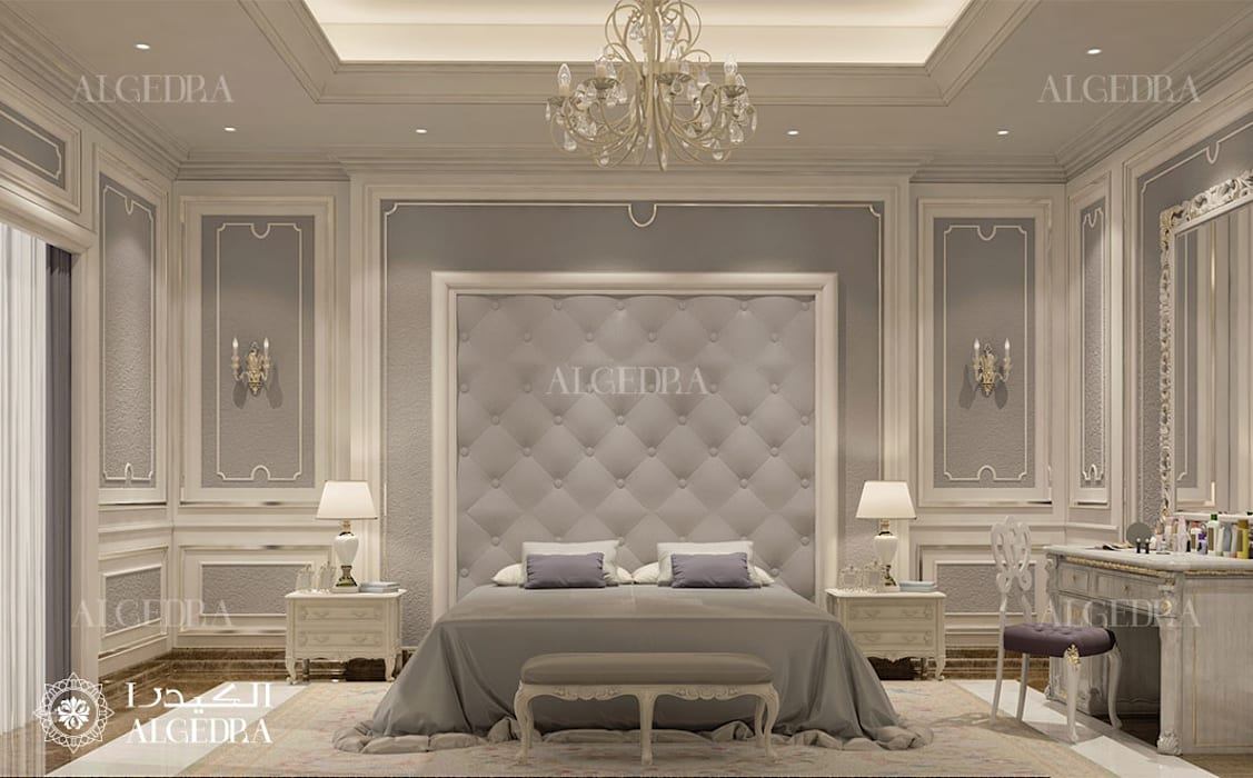 Modern bedroom design in Abu Dhabi Classic style bedroom by Algedra Interior Design Classic