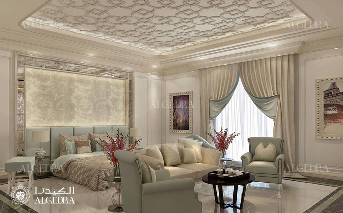 Luxury bedroom design in modern villa Classic style bedroom by Algedra Interior Design Classic