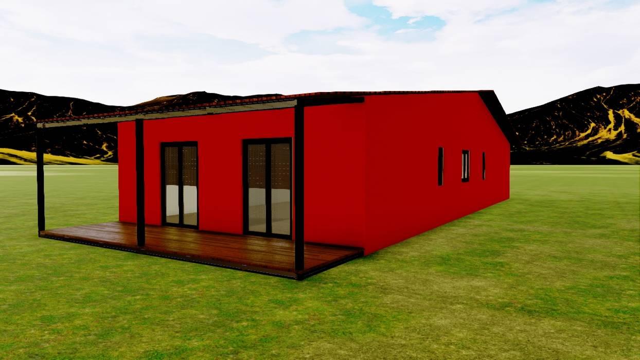 Casa Prefabricada REF.100003 - 100,00 m2 de Pro-Gal Construcción Prefabricada Rústico Madera Acabado en madera