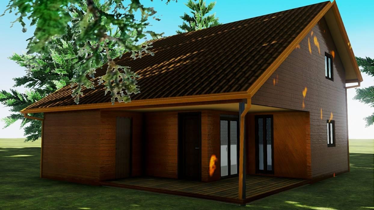 Casa Prefabricada REF.100004 Pro-Gal Construcción Prefabricada Oficinas y Comercios Madera Marrón