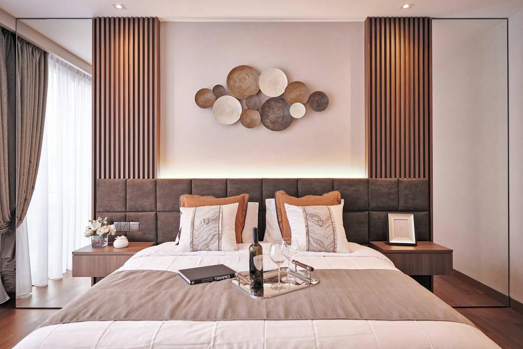 Mr Shopper Studio | Landed Property | Cayman Residence | Bedroom Mr Shopper Studio Pte Ltd Modern style bedroom Wood Brown