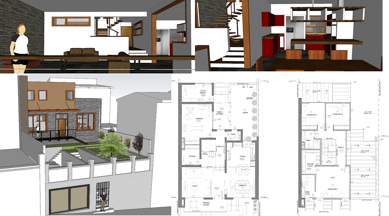Casa Condell Casas de estilo mediterráneo de PG + Arq Mediterráneo Piedra