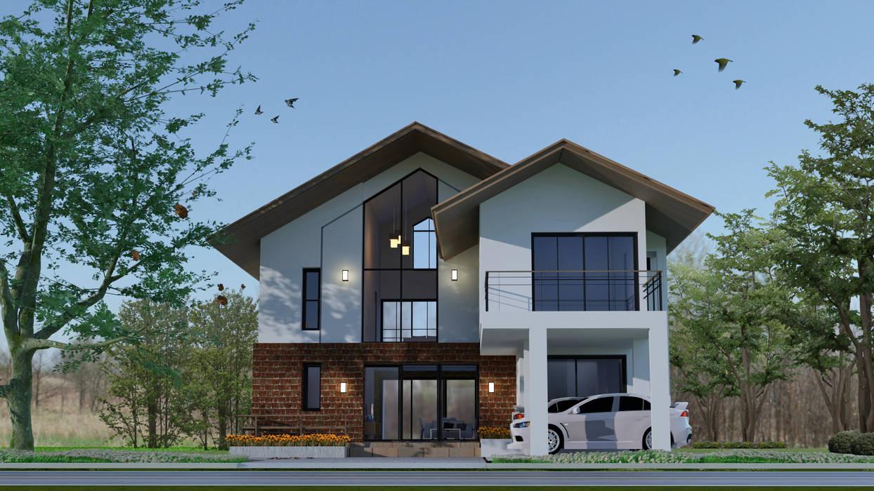 บ้านสวนริมคลอง โดย Pilaster Studio Design ผสมผสาน