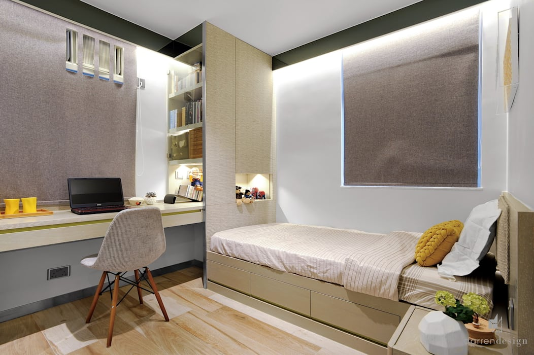 Bedroom Modern style bedroom by Darren Design & Associates 戴倫設計 Modern Wood Wood effect