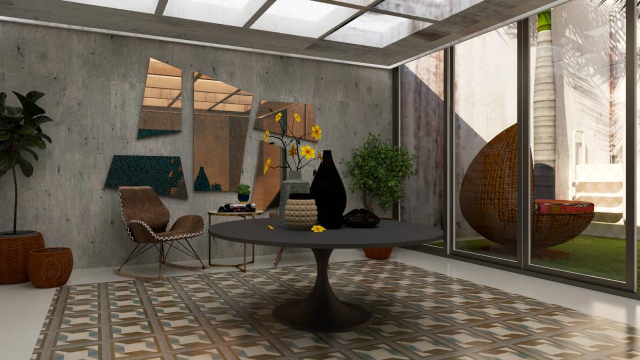Recibidor Casa 10 x 10 CONCEPTO JORU Pasillos, vestíbulos y escaleras escandinavos Azulejos