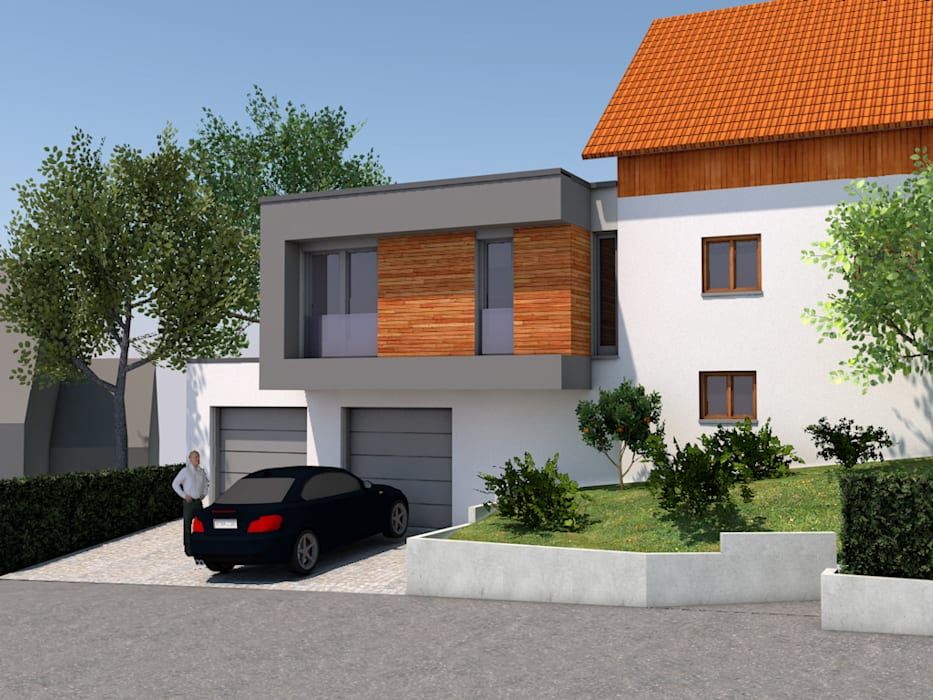 Anbau Helzer Zinke Architekten PartG mbB Einfamilienhaus Holz Weiß