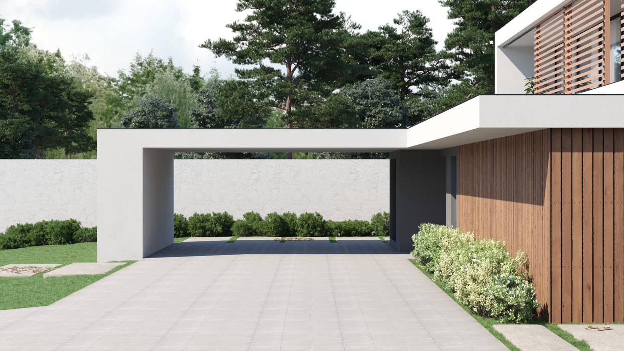 3D Render | Exteriores Casas modernas por DUO Interactive Moderno