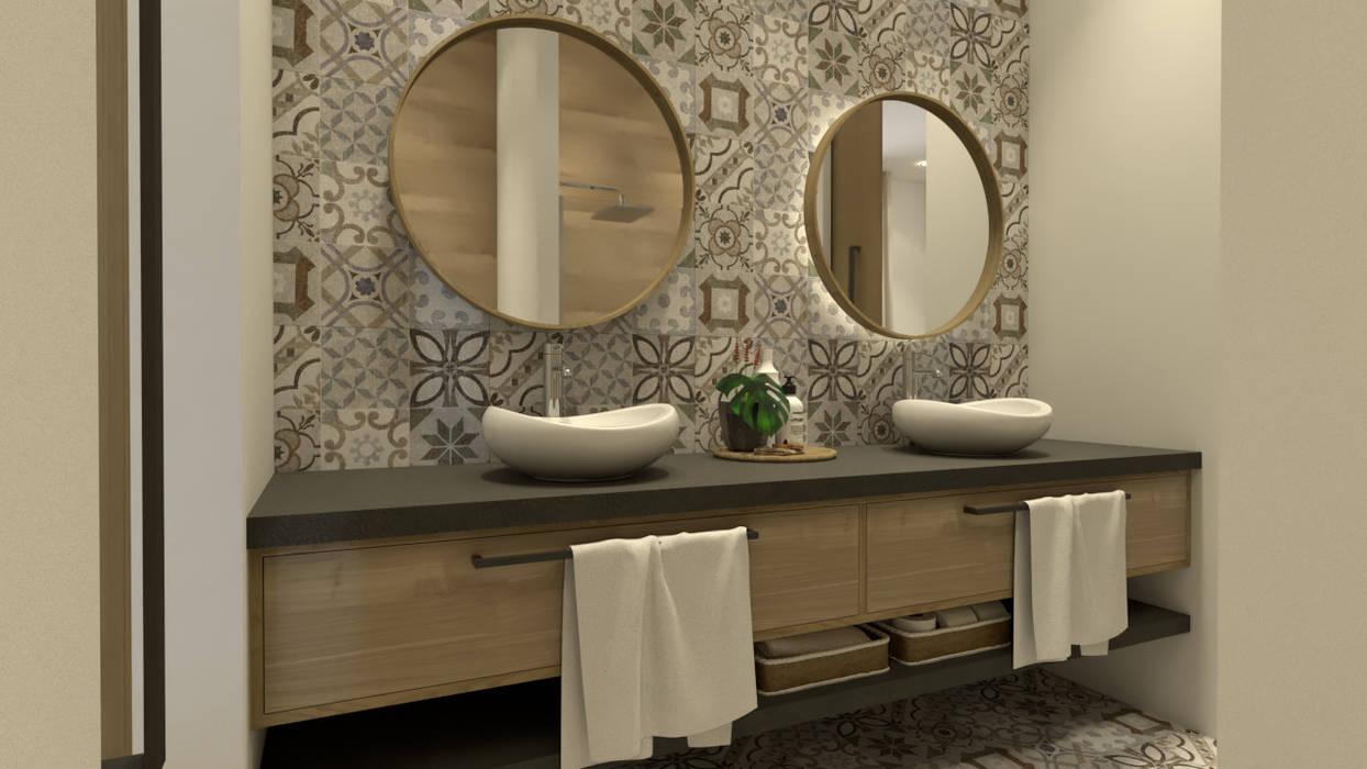 Wc comum Casas de banho rústicas por BORAGUI - Design Studio Rústico