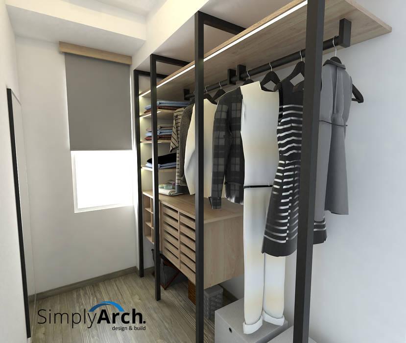 Walk-in Wardrobe Ruang Ganti Modern Oleh Simply Arch. Modern