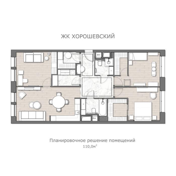 Проект для молодой семьи в г.Москва Мария Ничипоренко Полы Дерево